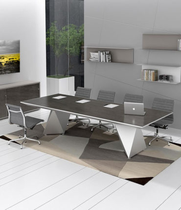 Elegant Grays Modern Conference Table
